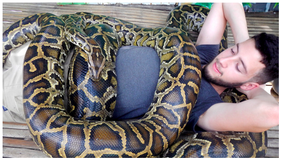 going for a snake massage